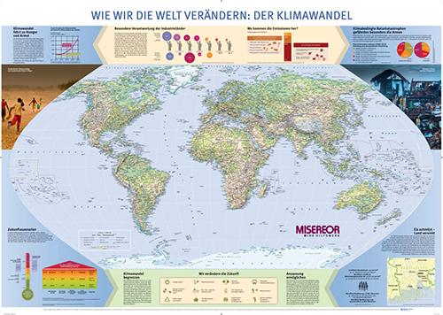 MISEREOR-Weltkarte: Wie wir die Welt verändern: Der Klimawandel